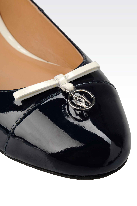 Armani Patent Leather Ballet Flats XEqs9cIZ6