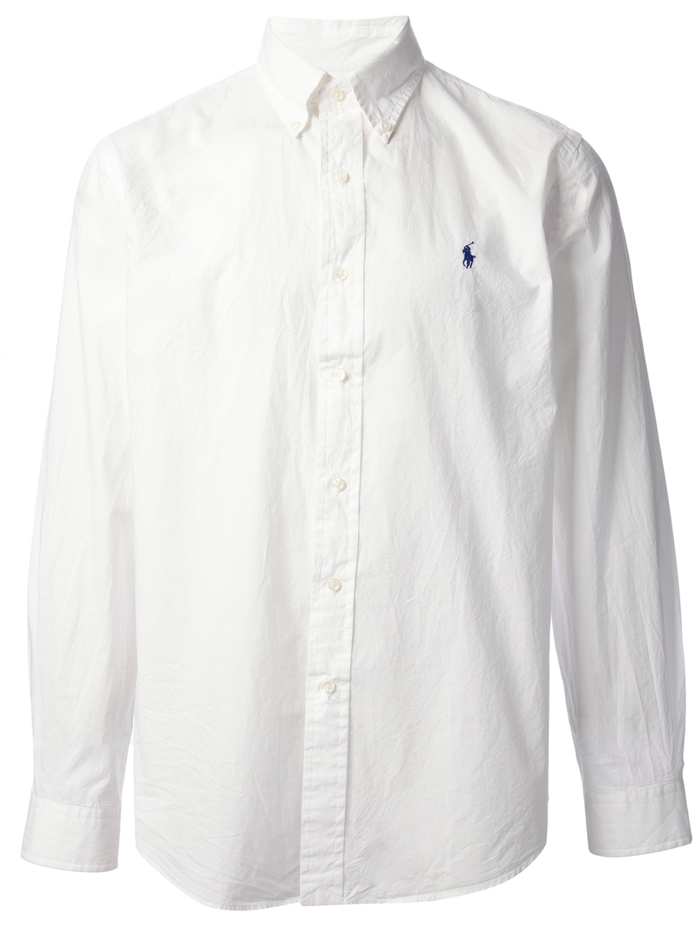 Polo ralph lauren Button Down Shirt in White for Men | Lyst