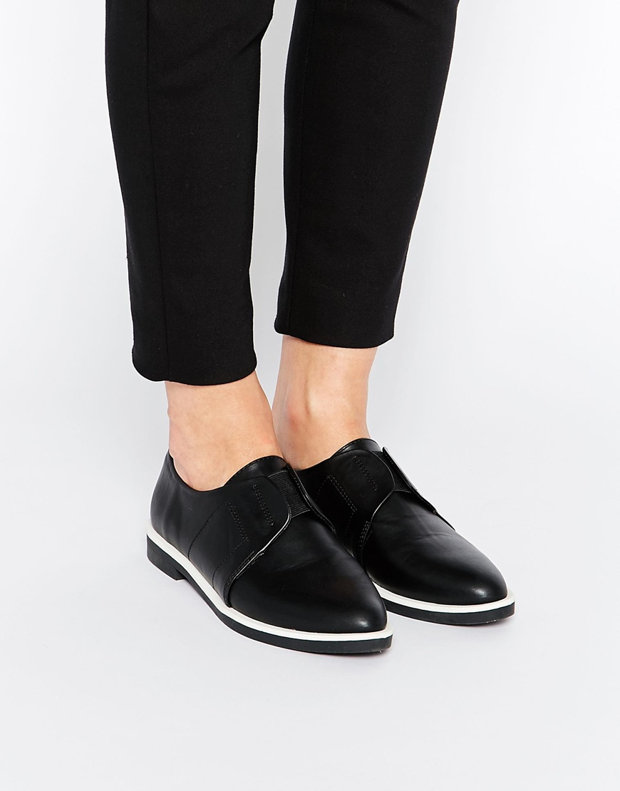 Labyrinthe Asos Daim Chaussures Plates - Noir gCDm0po