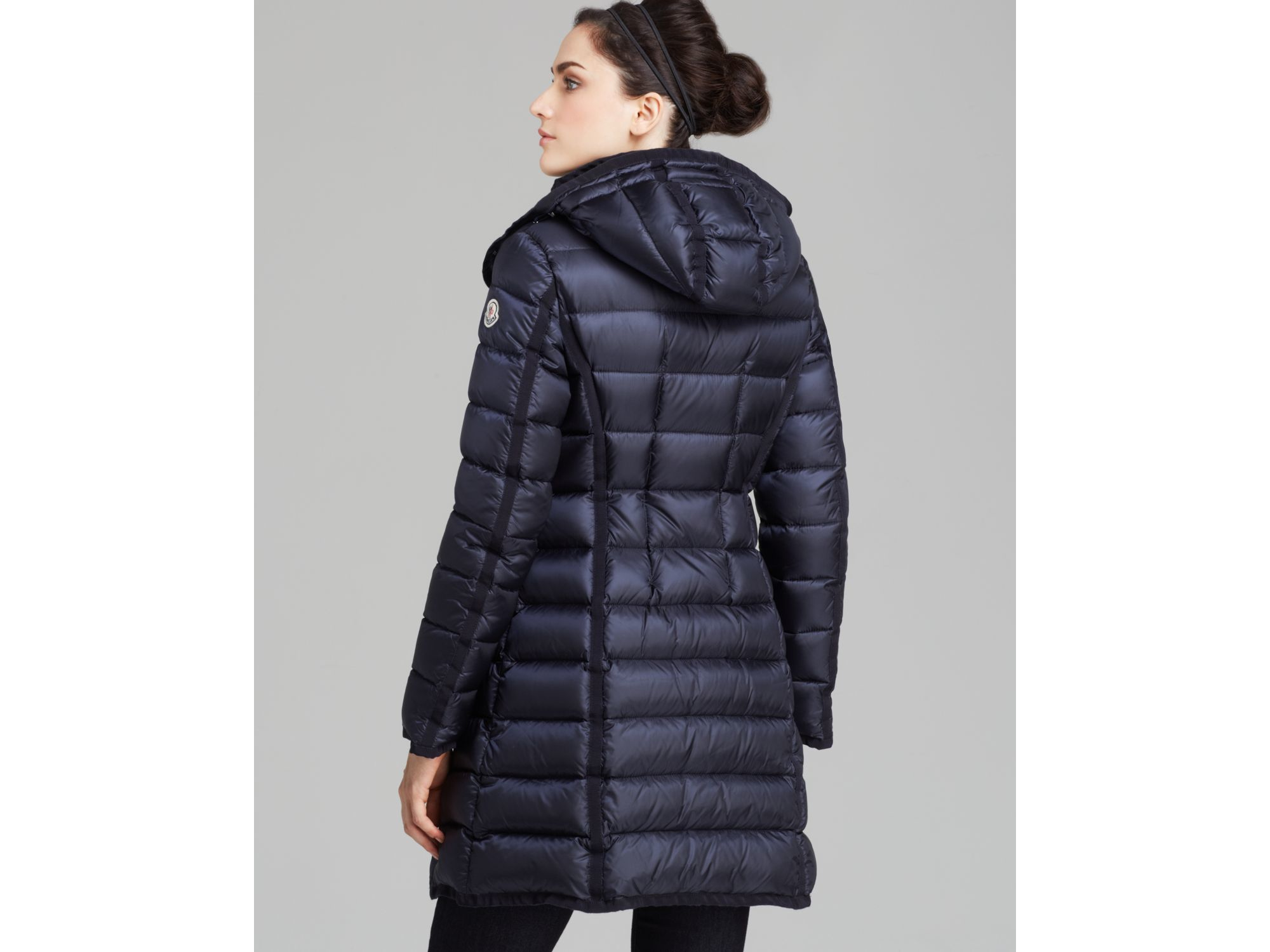 Moncler Down Coat - Hermine Mid-length in Blue | Lyst