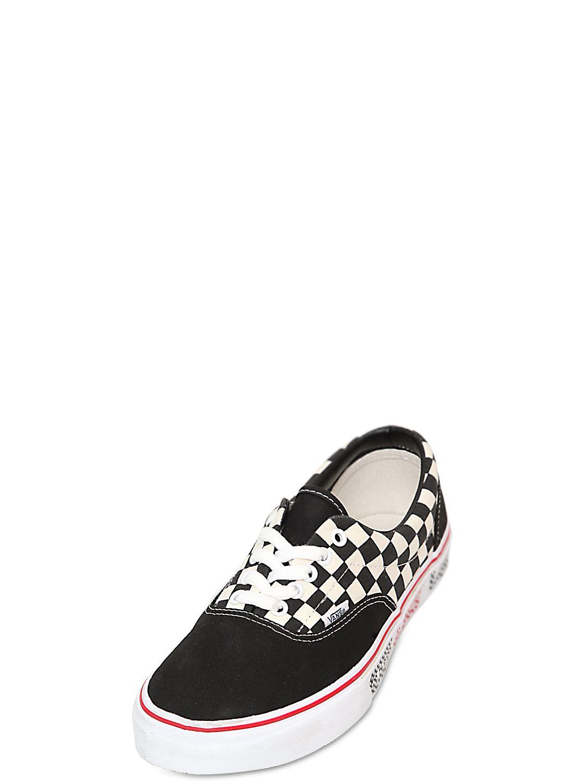 b5dff026d4a301 Lyst - Vans Checker Vans Era Van Doren Sneakers in Black for Men
