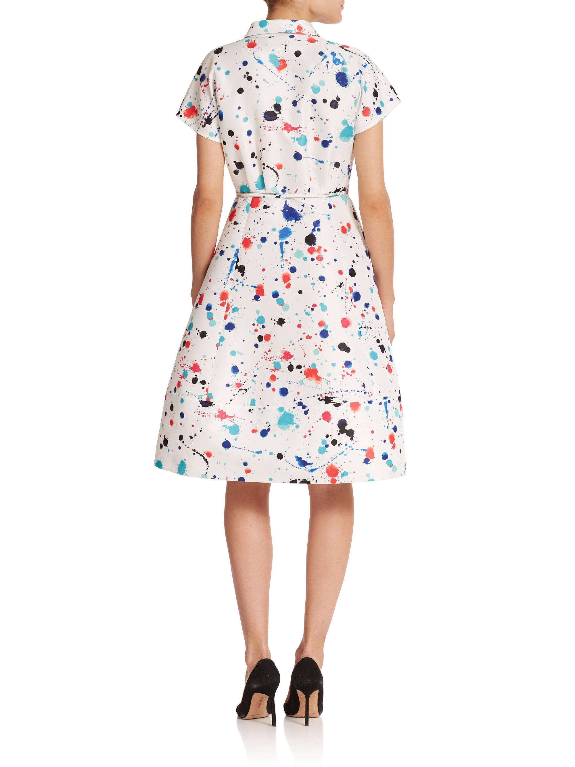 Lyst Kate Spade New York Paint Splatter Shirtdress