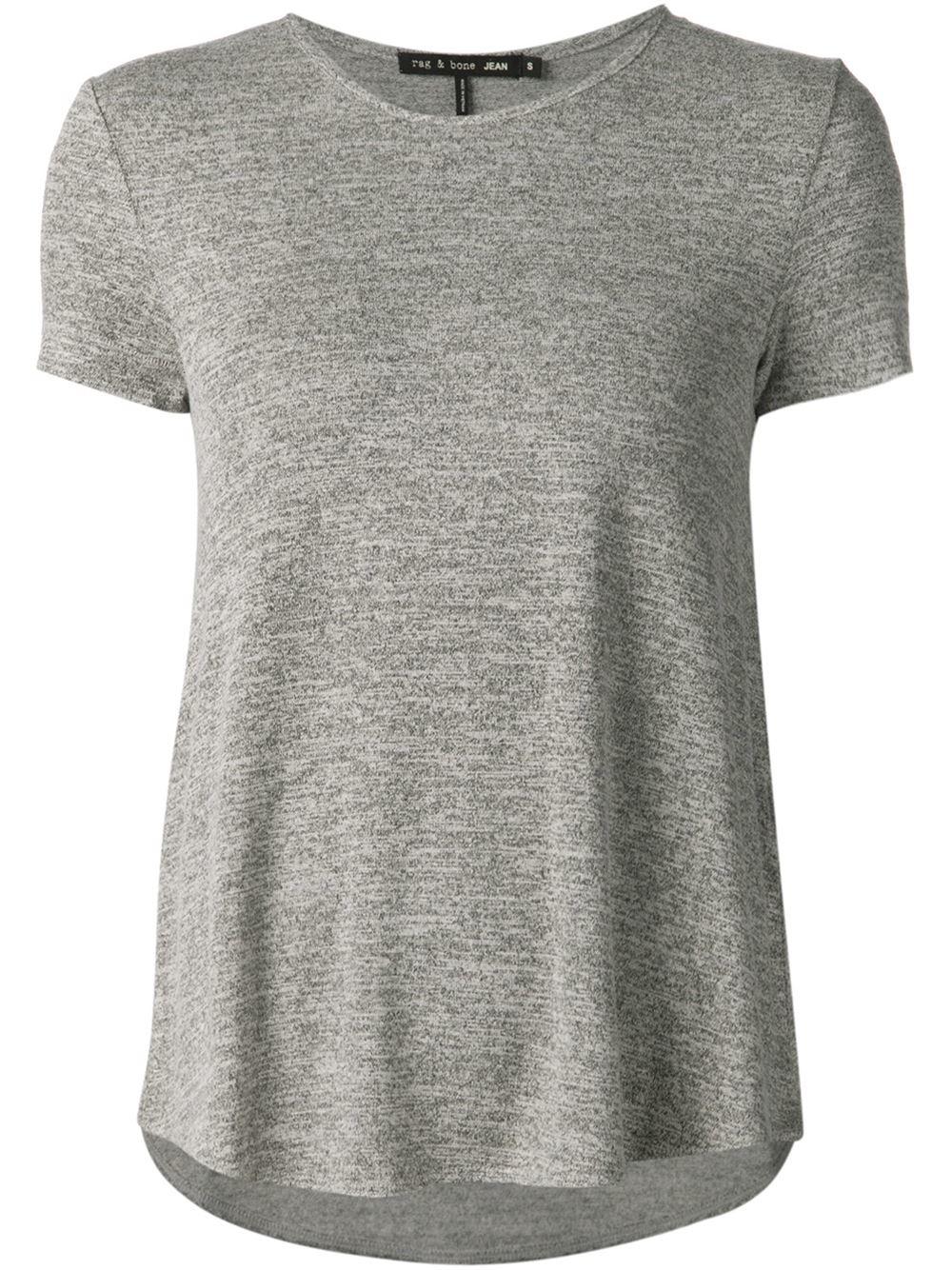 Rag bone vista jersey t shirt grey in gray lyst for Rag and bone t shirts