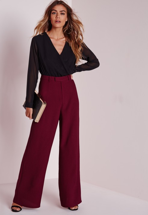 Missguided Petite Premium Crepe Wide Leg Trousers Manchester Great Sale For Sale 2018 Newest Cheap Online Free Shipping Footlocker I3vowdCp2I