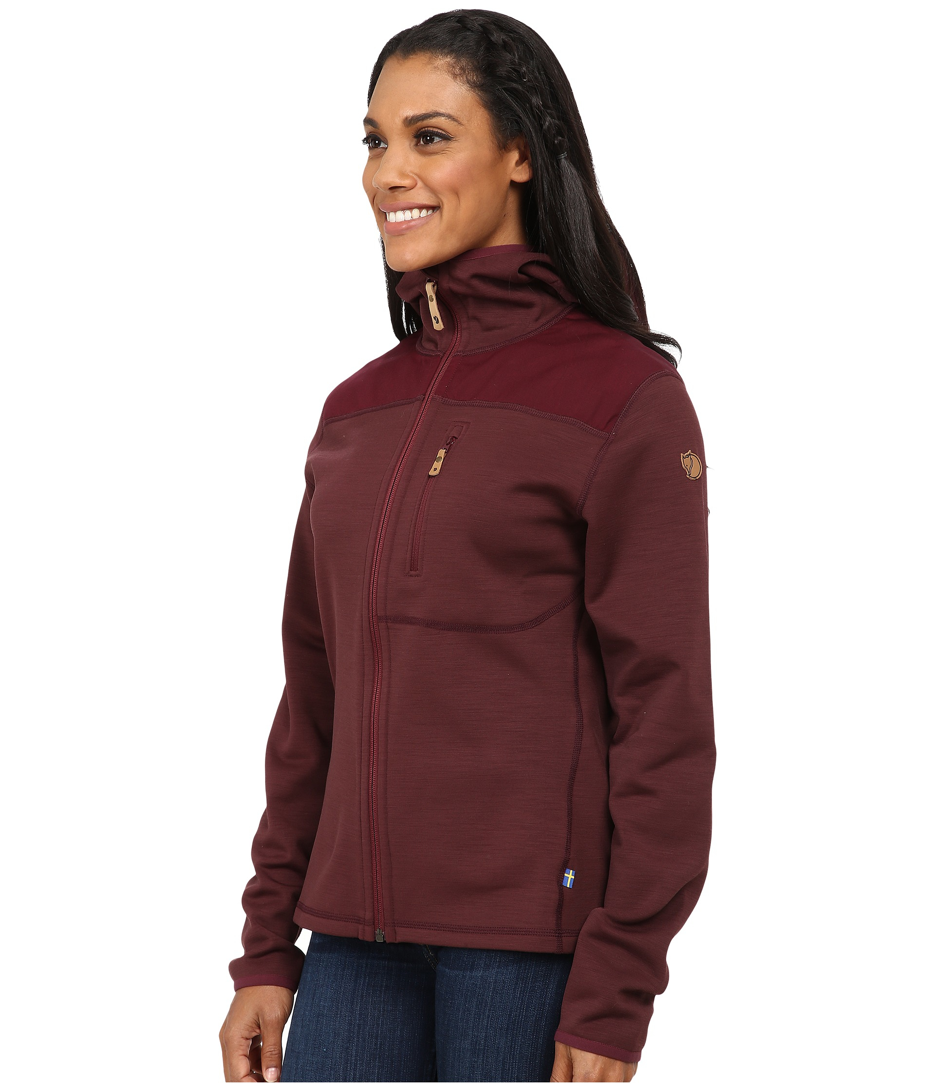 Fjallraven Keb Fleece Jacket in Purple | Lyst
