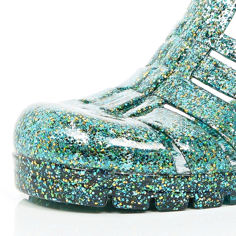 c22a966210ce River Island Green Glitter Block Heel Jelly Shoes in Green - Lyst