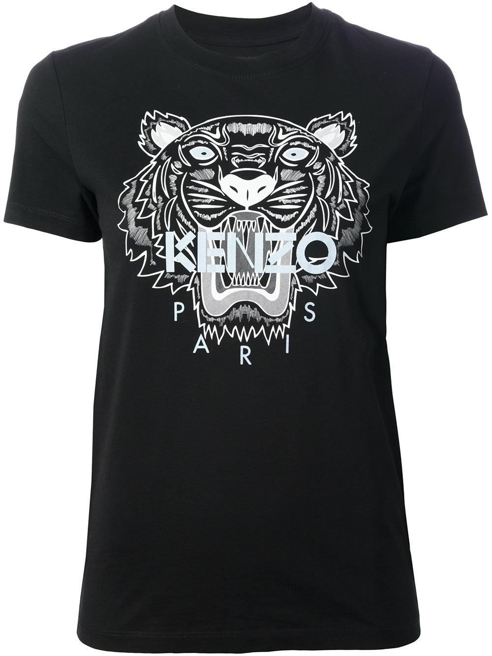 kenzo logo t shirt in black lyst. Black Bedroom Furniture Sets. Home Design Ideas
