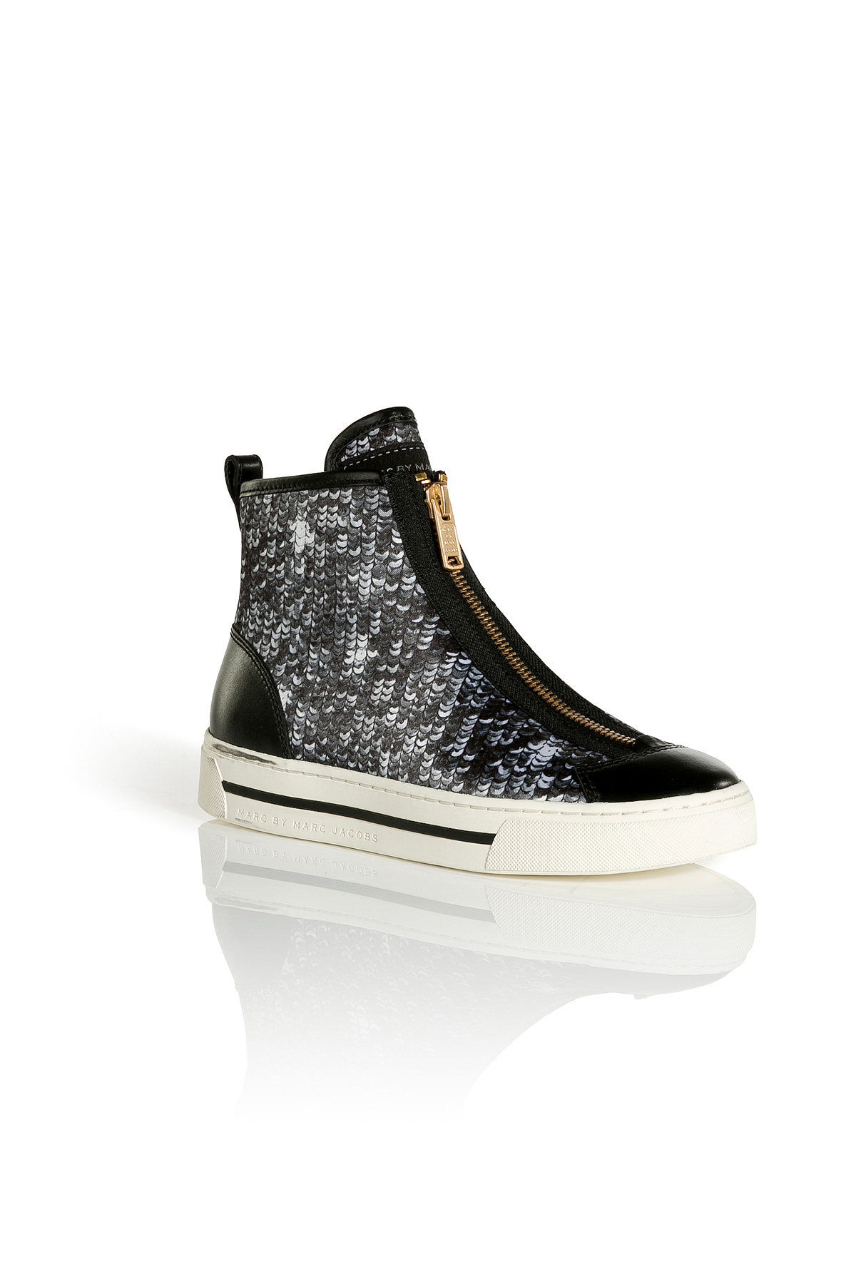 Marc By Marc Jacobs Satin And Sequin Hightop Sneakers In