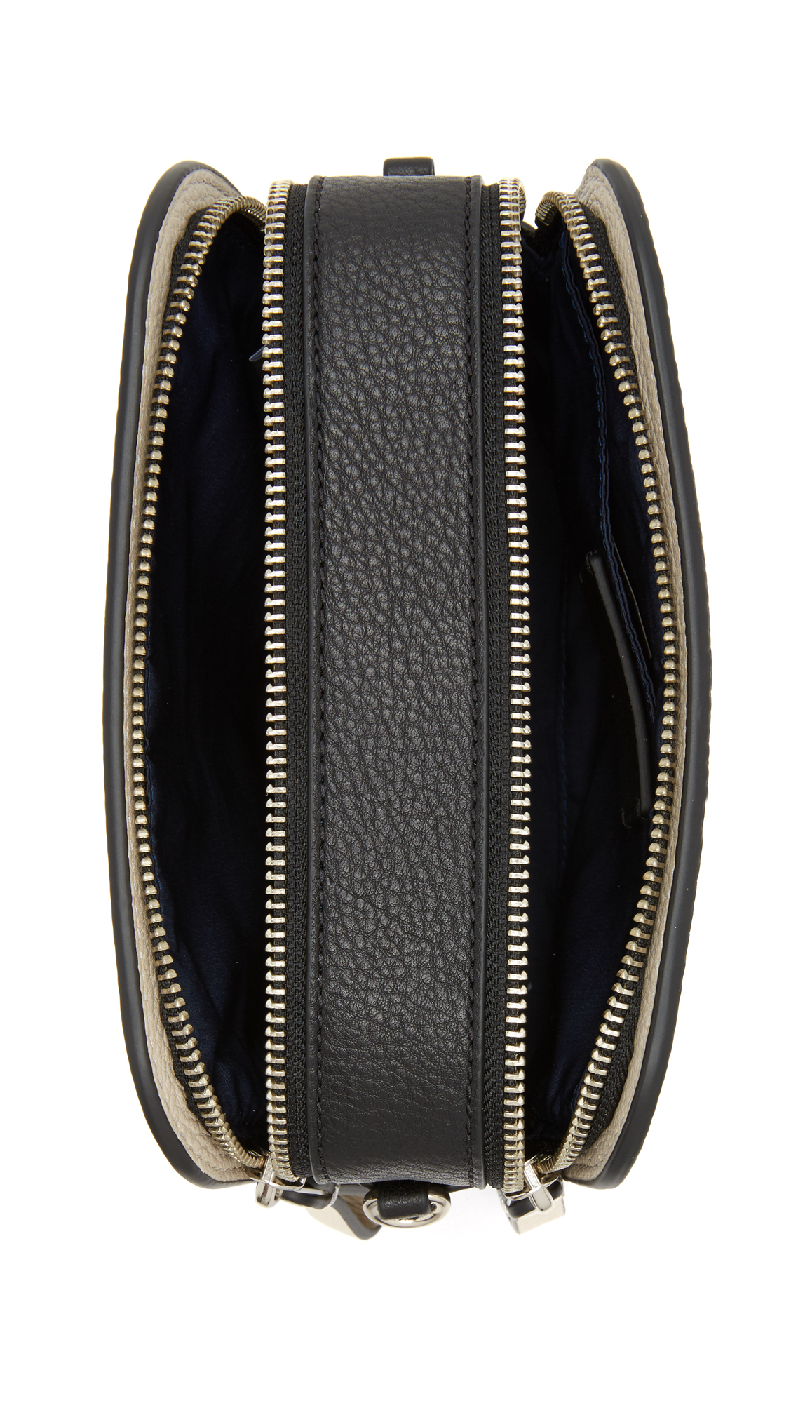 c89b44eb8c0d Lyst - Marc By Marc Jacobs Lux Double Zip Cross Body Bag - Black ...