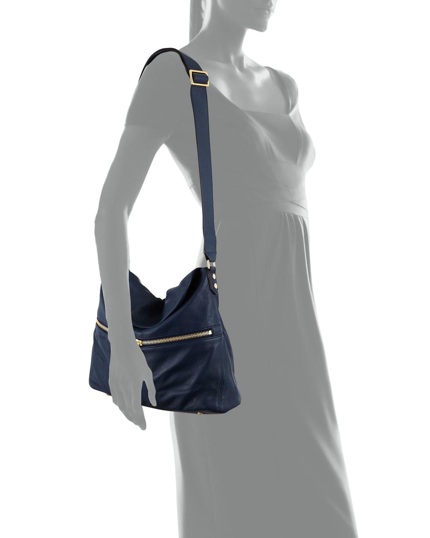 b0e89aa5b900 Lyst - Elizabeth and James James Leather Hobo Crossbody Bag in Blue