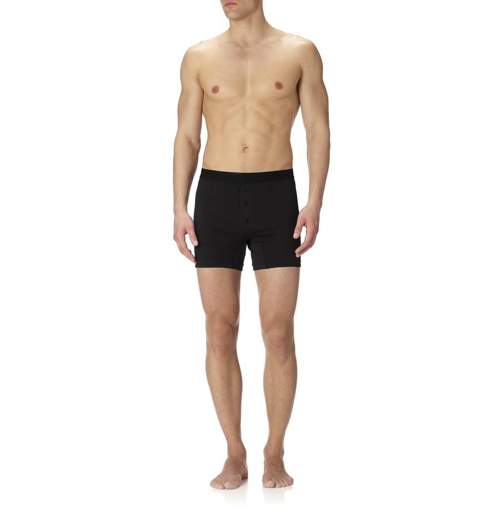 6b503cd9bcce Lyst - Sunspel Men's Superfine Cotton Two-button Short in Black for Men