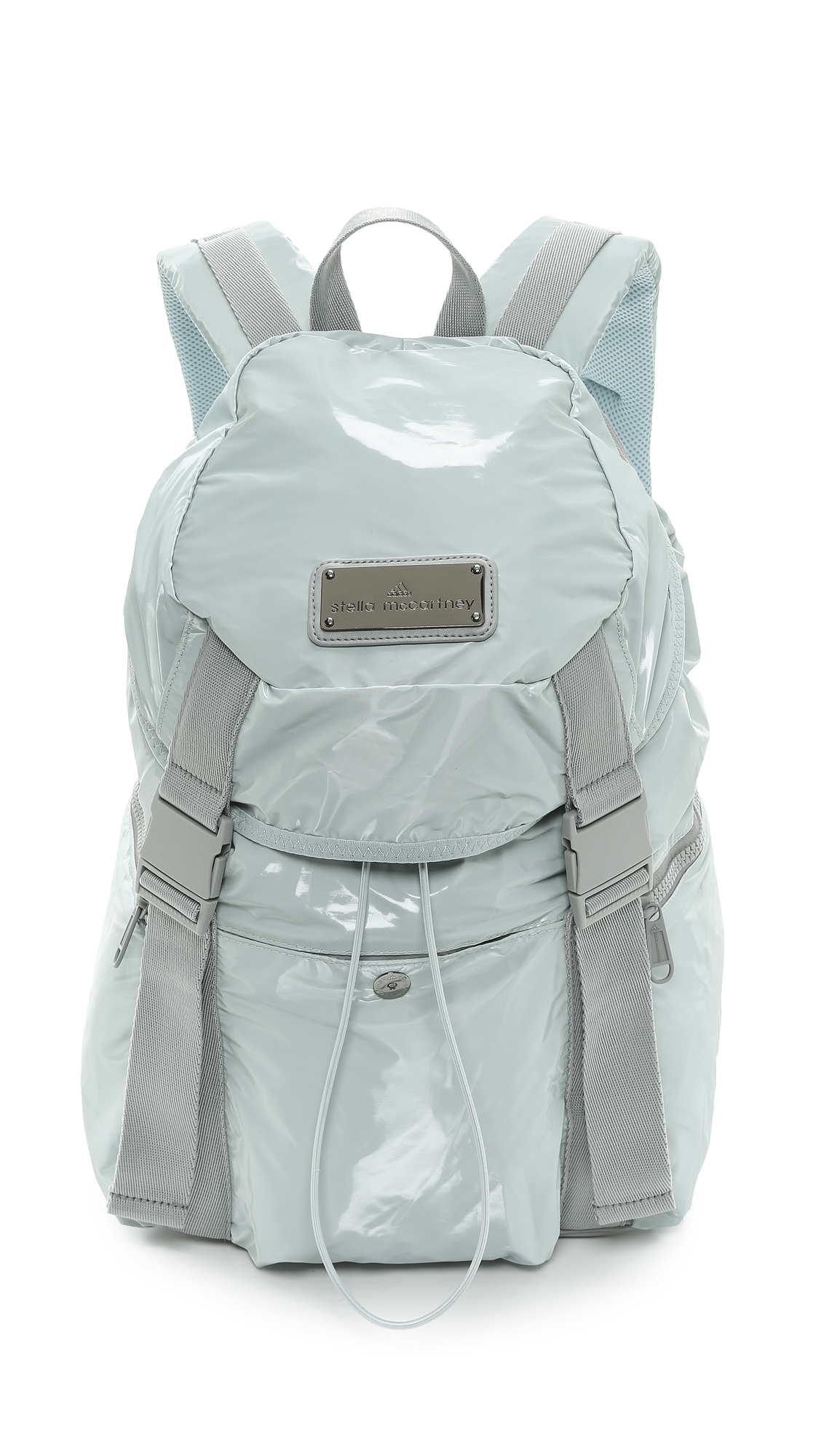 adidas by stella mccartney weekender backpack eggshell in blue lyst. Black Bedroom Furniture Sets. Home Design Ideas