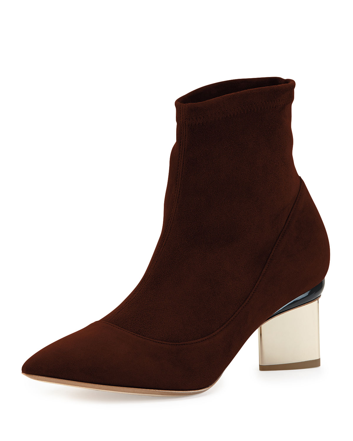 Lyst - Nicholas Kirkwood Suede Point-toe Ankle Boot in Brown ddaae5728e1e6