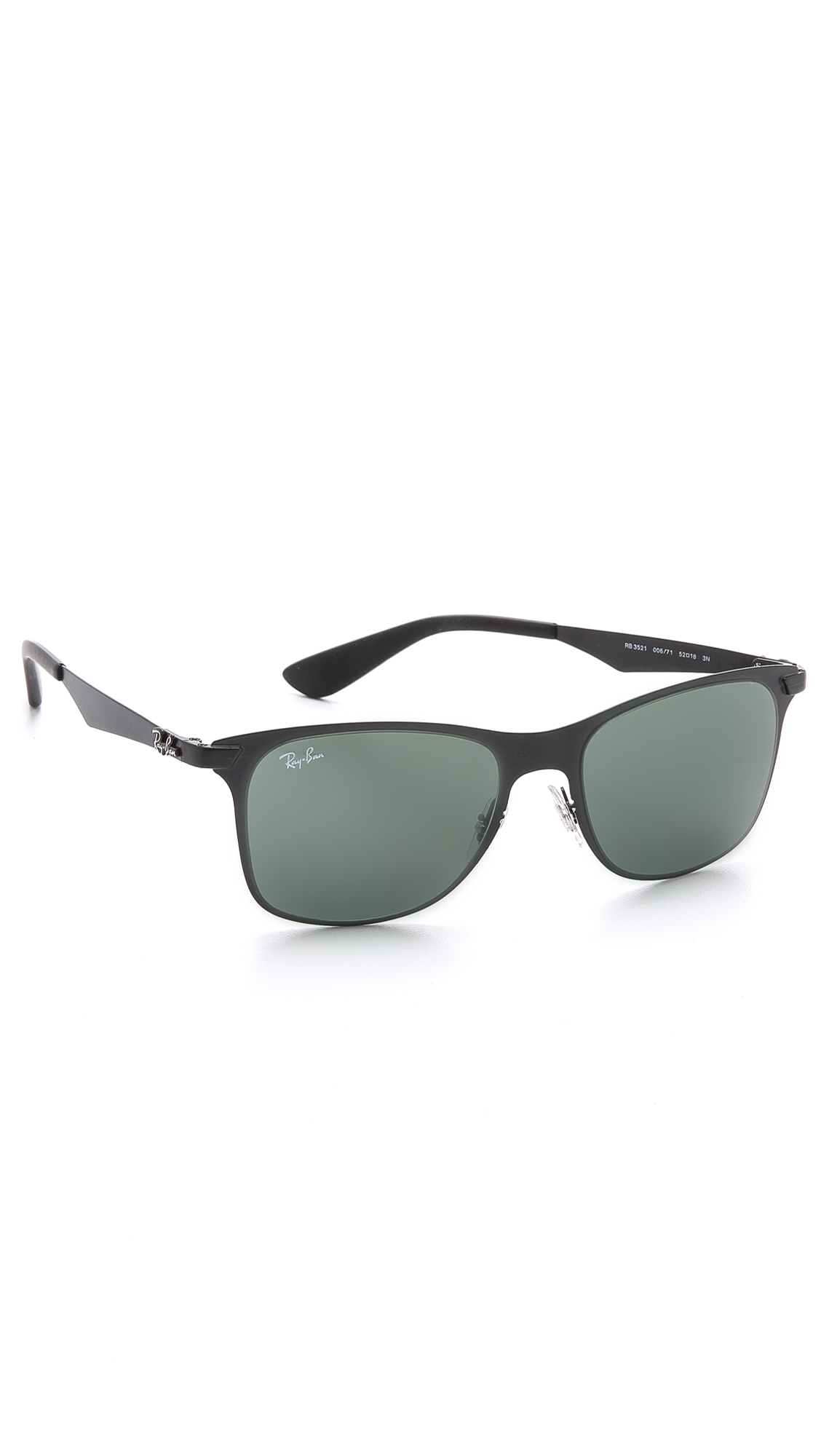 wayfarer metal frame  Ray-ban Flat Metal Wayfarer Sunglasses in Black for Men