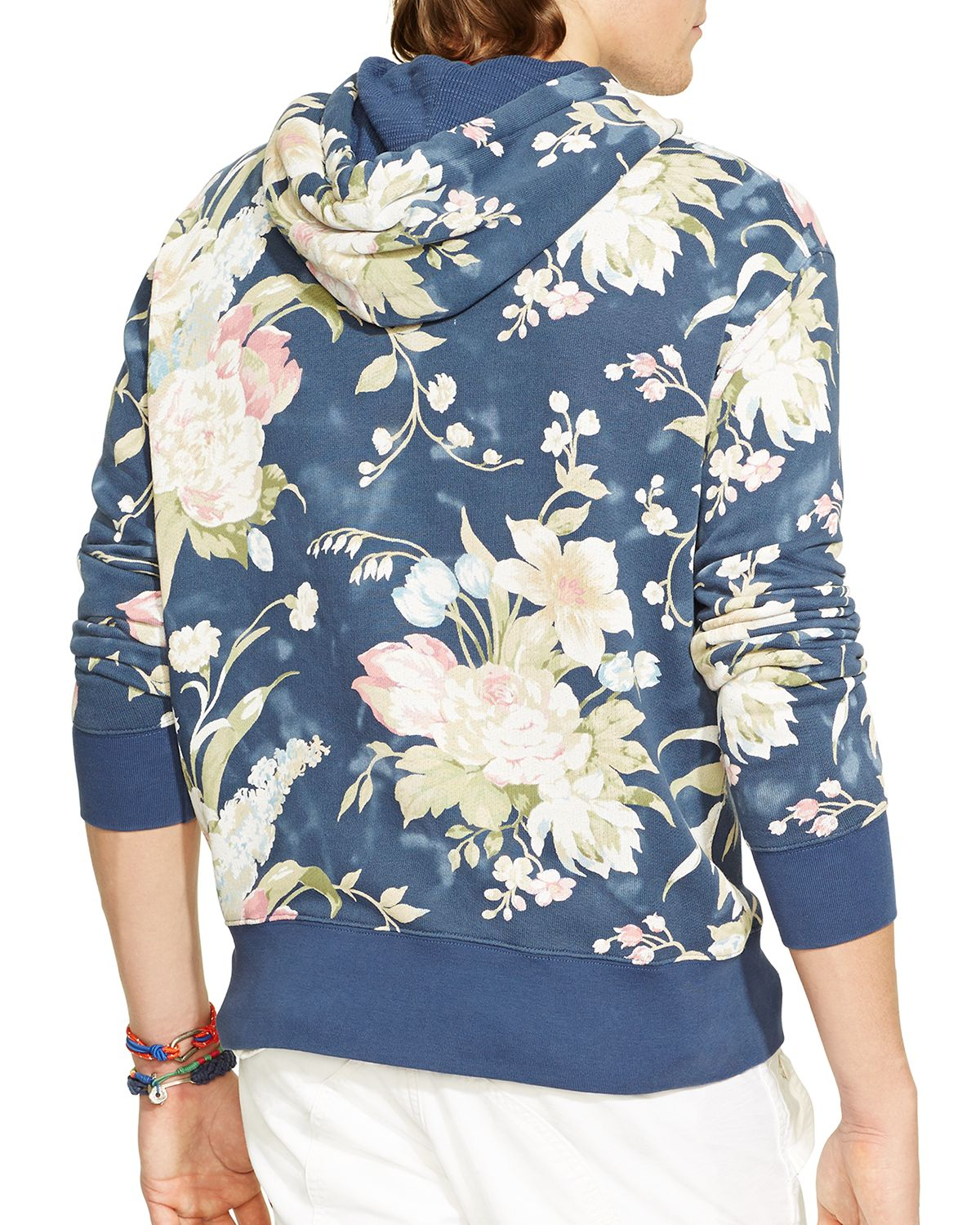 lyst ralph lauren polo floral terry hoodie in blue for men. Black Bedroom Furniture Sets. Home Design Ideas