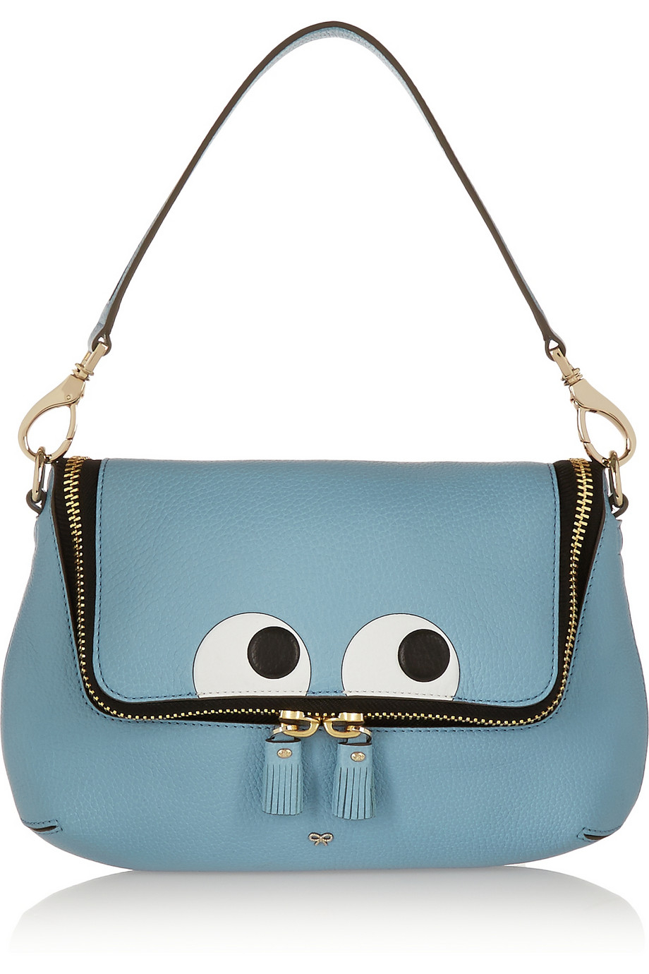 Anya hindmarch Maxi Zip Embossed Textured-Leather Shoulder ...