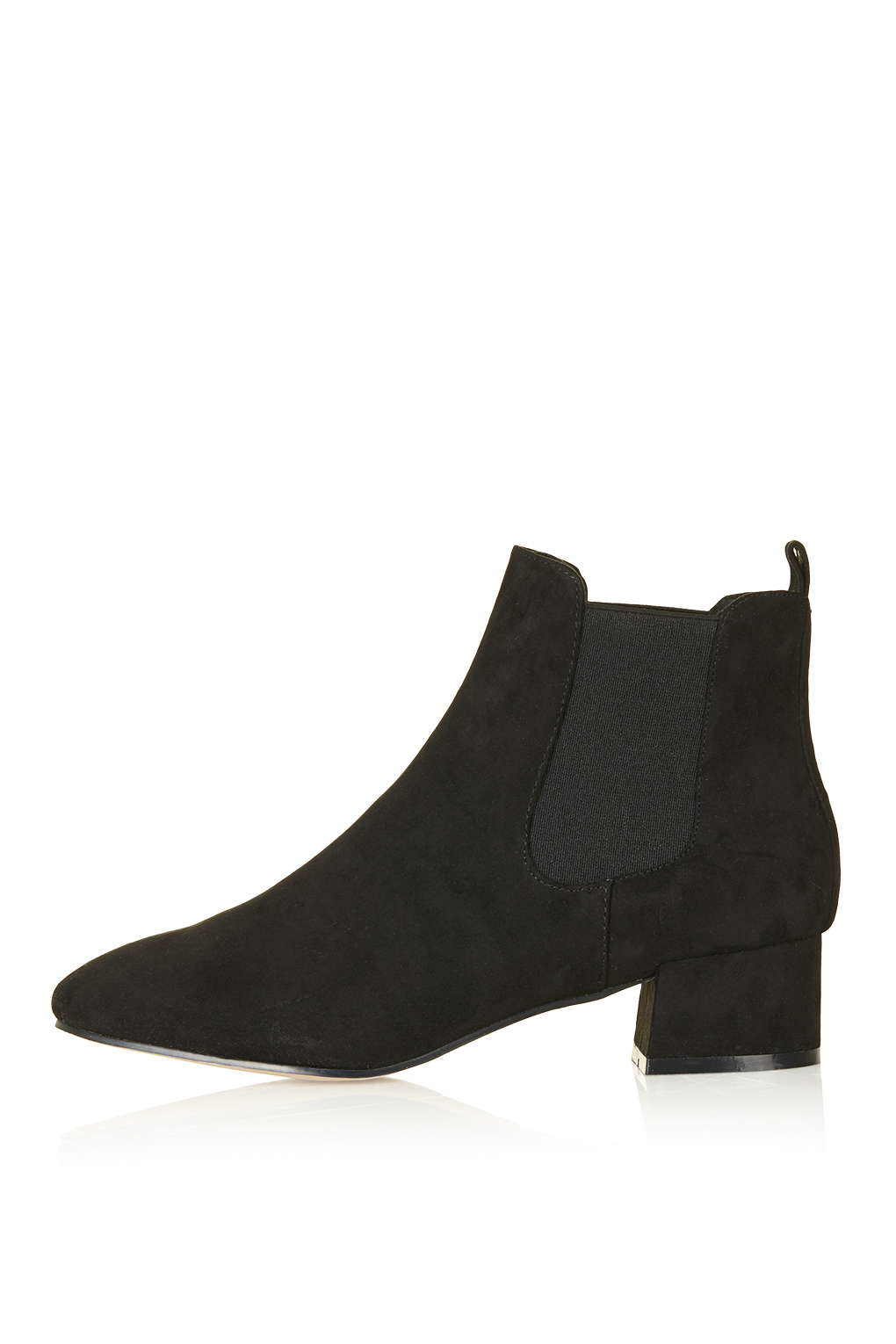 Topshop Kola Square Toe Boots In Black Lyst