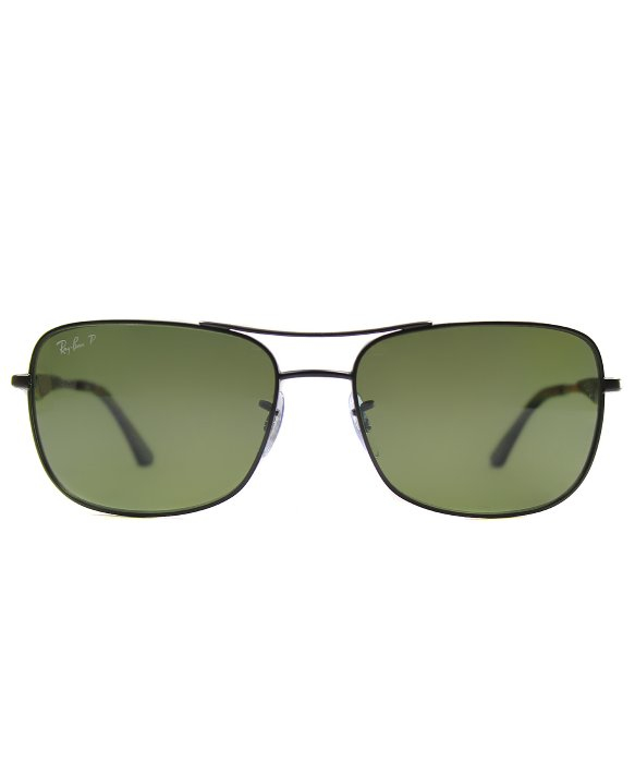 b87ab4ff84 Lyst - Ray-Ban Ray Ban Rb3515 006 9a Rectangle Metal Polarized ...