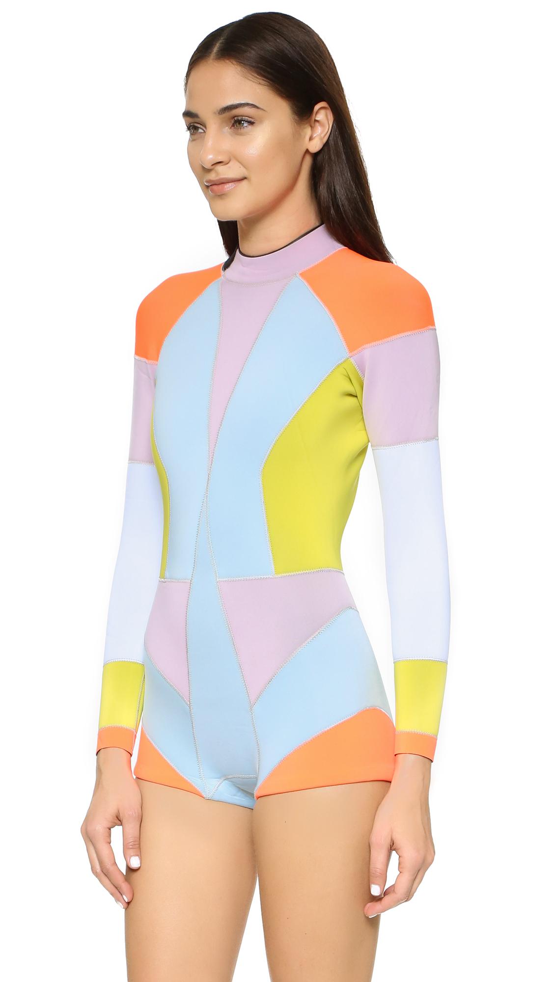 7b5135130d Cynthia Rowley Colorblock Wetsuit - Lyst