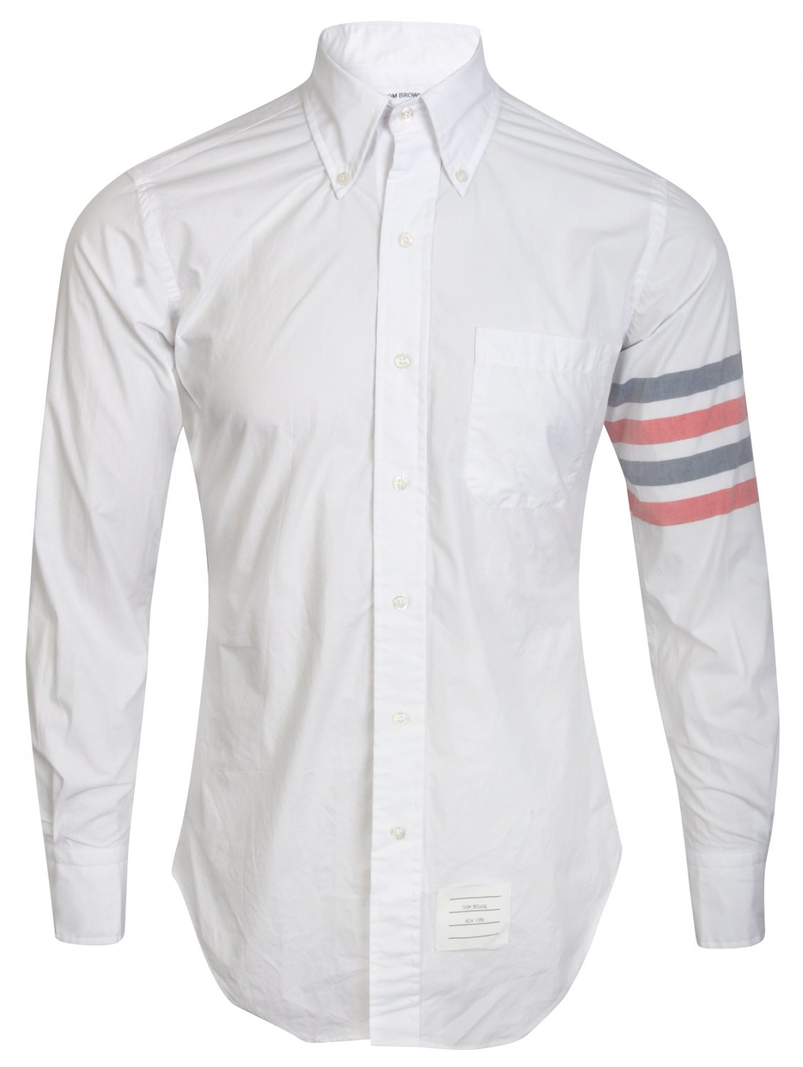 5b271b1909d Thom Browne White Button-down Oxford Shirt With Stripe Armband in ...