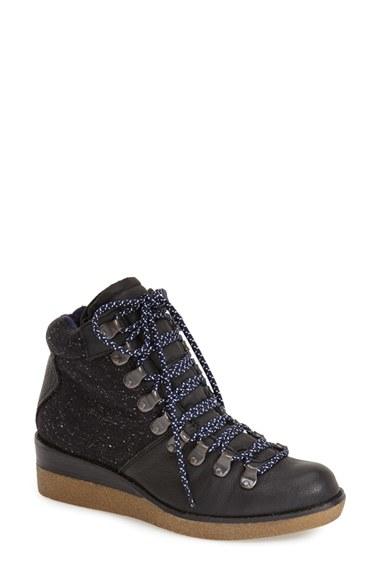 dolce vita serina wedge boot in black lyst
