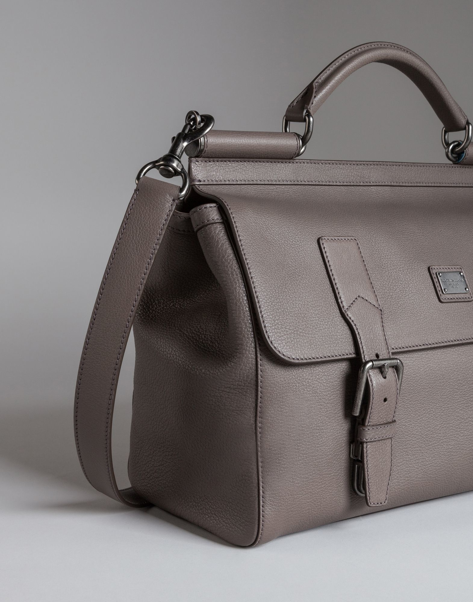 Lyst - Dolce   Gabbana Sicily Travel Bag In Leather in Gray for Men 048cfcd041124