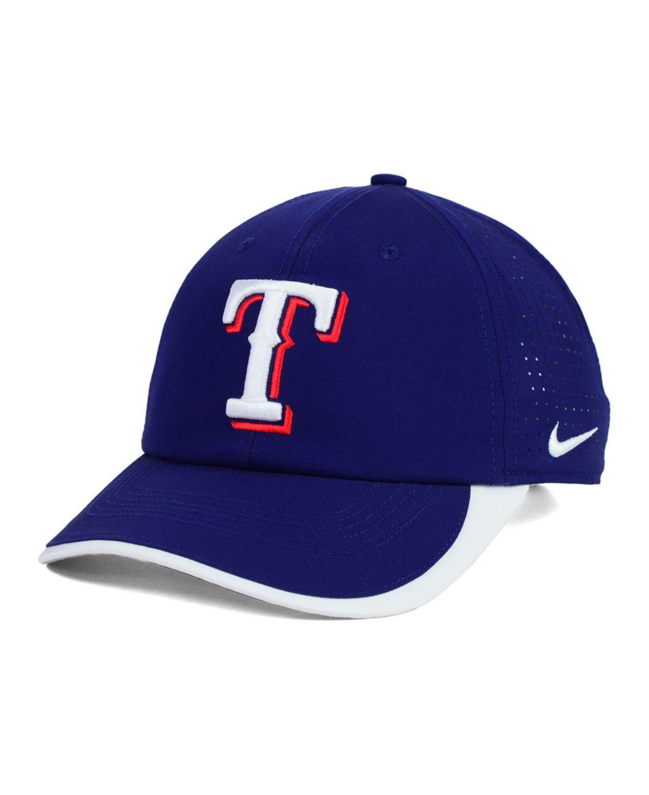 0277128c4f7f5 Lyst - Nike Texas Rangers Featherlite Cap in Blue for Men