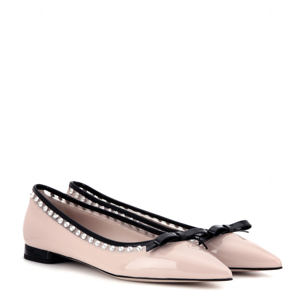 free shipping explore discount top quality Miu Miu Patent leather ballerinas with paypal cheap price discount real CSdIuQ