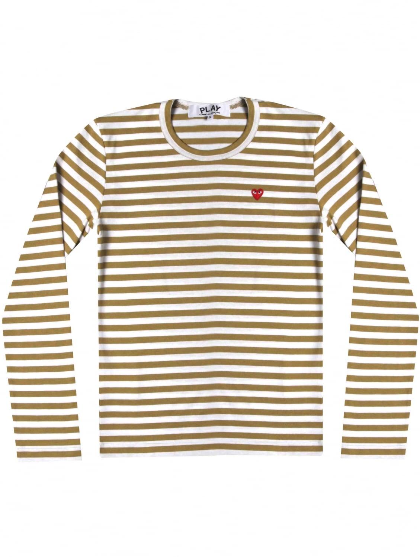comme des gar ons women 39 s play long sleeve stripe t shirt. Black Bedroom Furniture Sets. Home Design Ideas