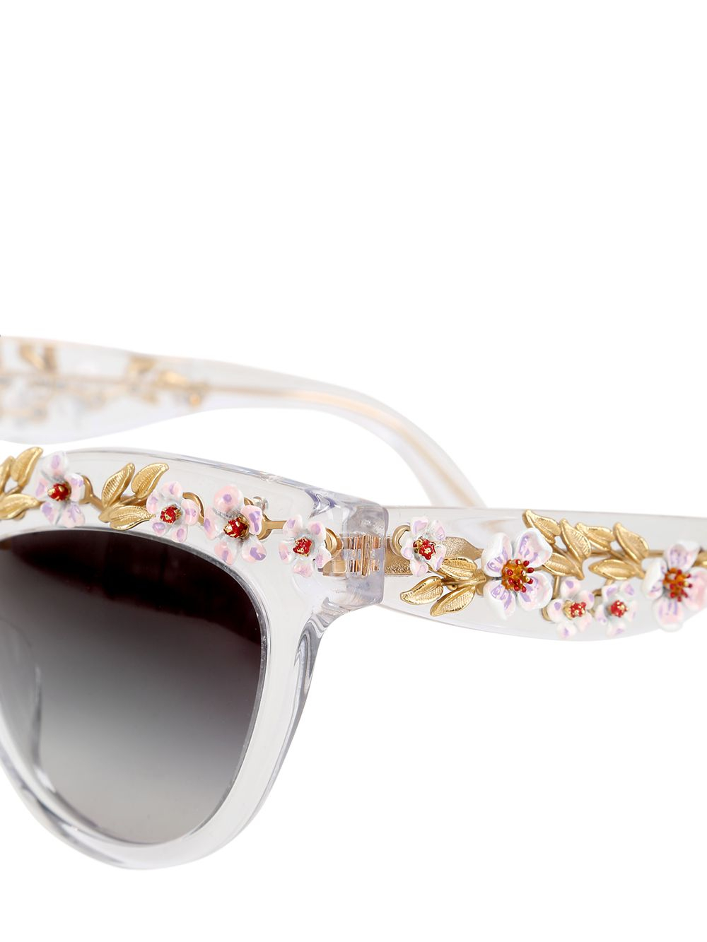 1dbb8ad3136 Dolce   Gabbana Flowers Embellished Cat Eye Sunglasses - Lyst