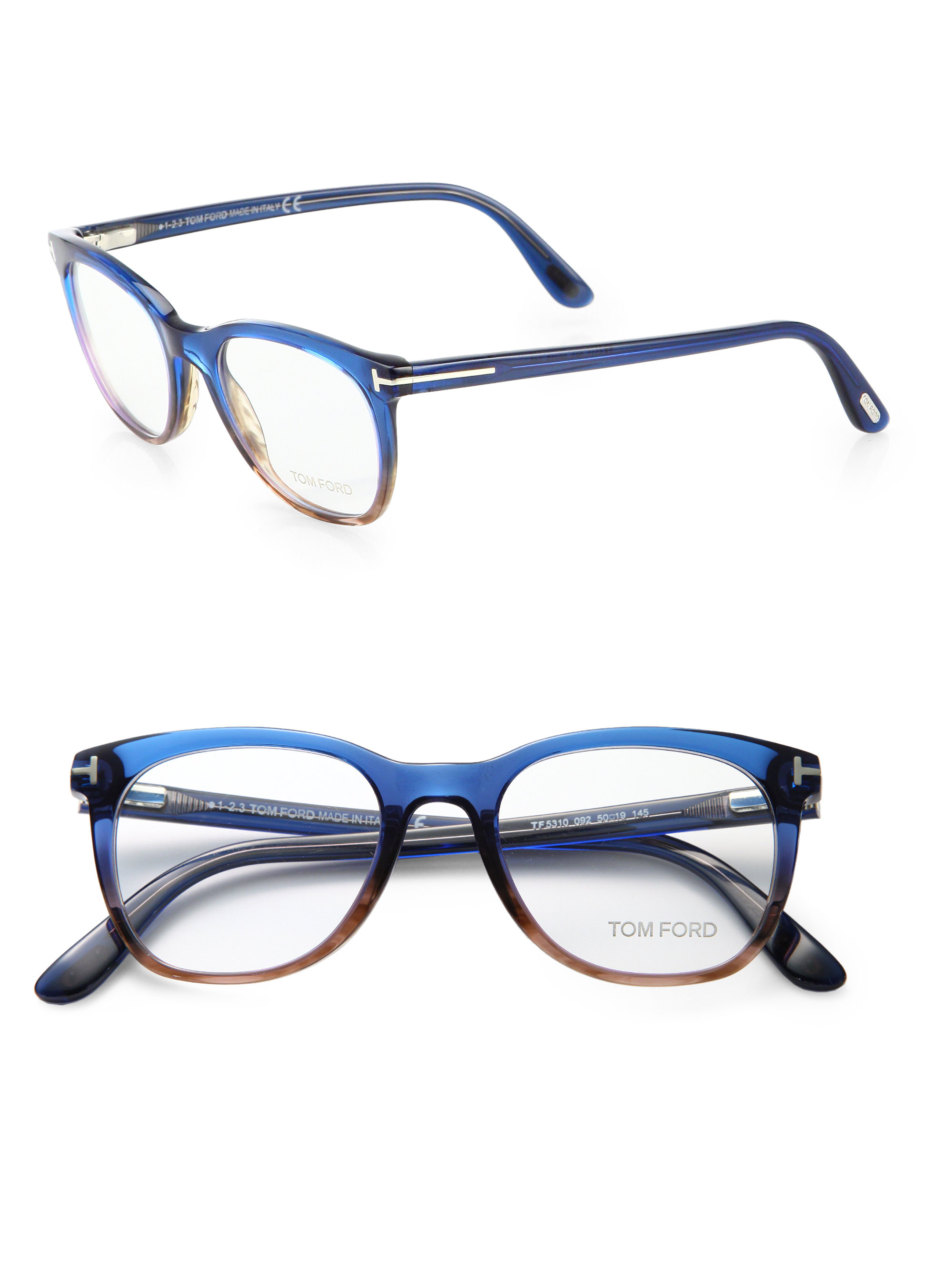 tom ford 50mm ombr 233 optical glasses in blue lyst