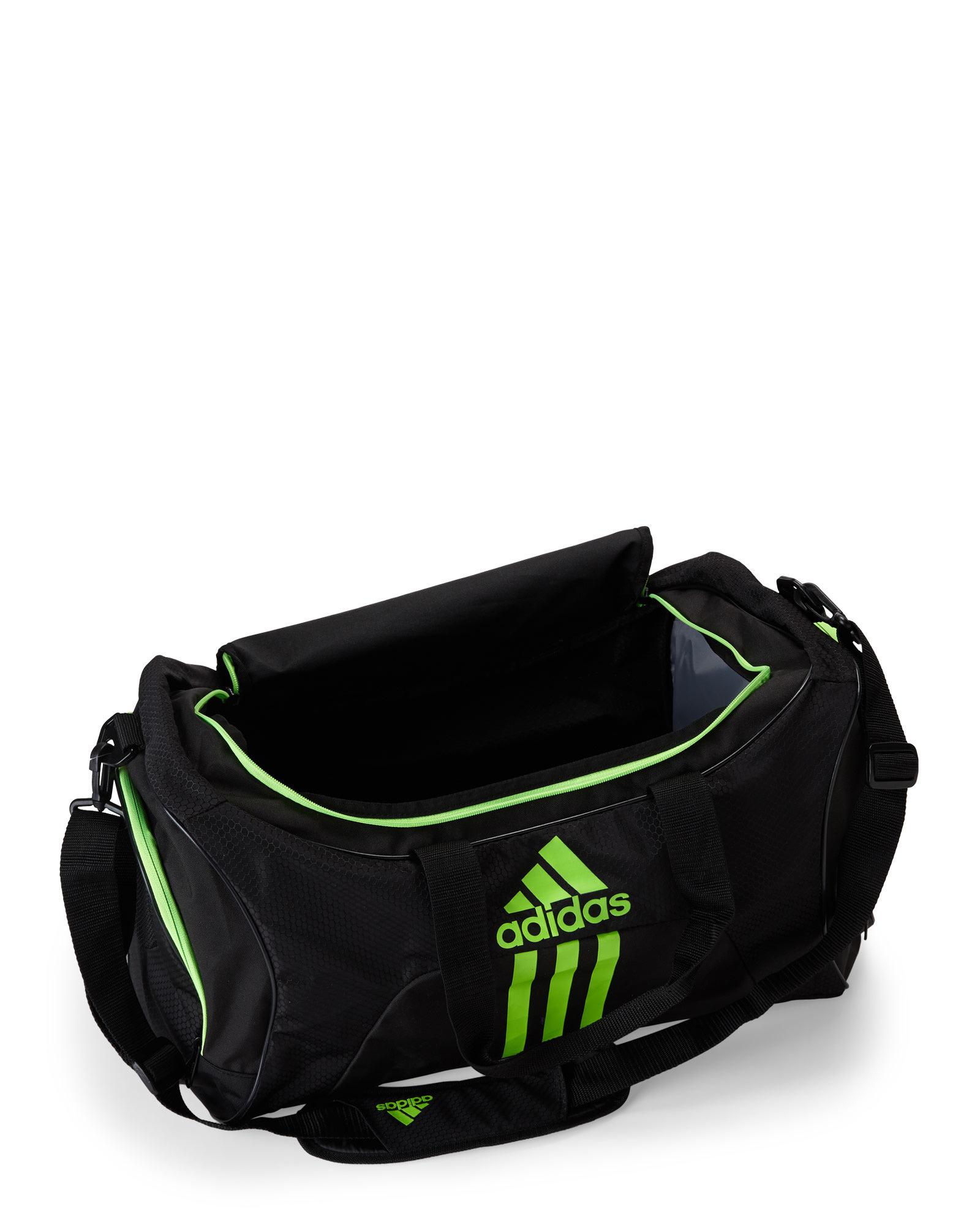 Lyst - adidas Originals Black   Green Scorer Medium Duffel in Black ... f14f7c53cc8c0