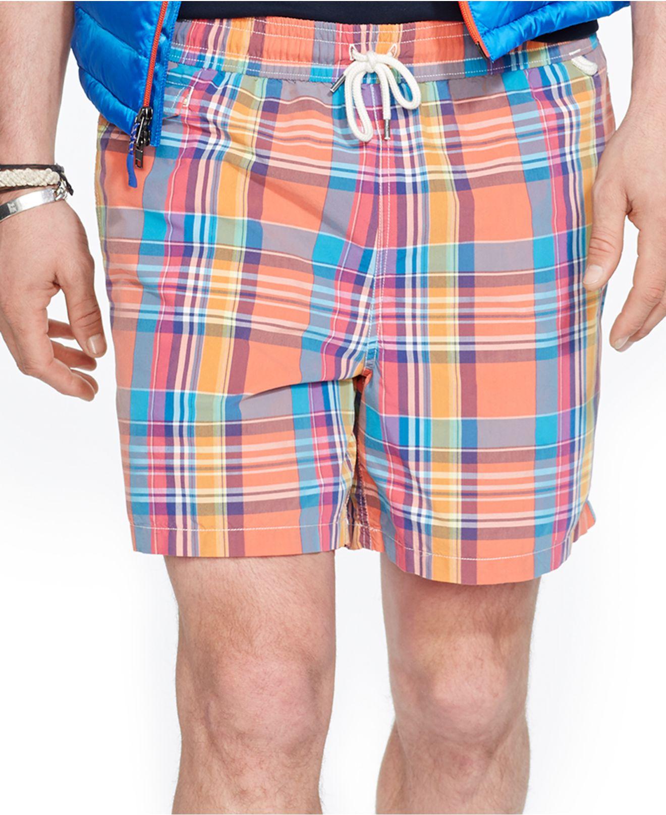 Ralph Lauren Menswear - Ralph Lauren Traveler Swim Shorts Orange