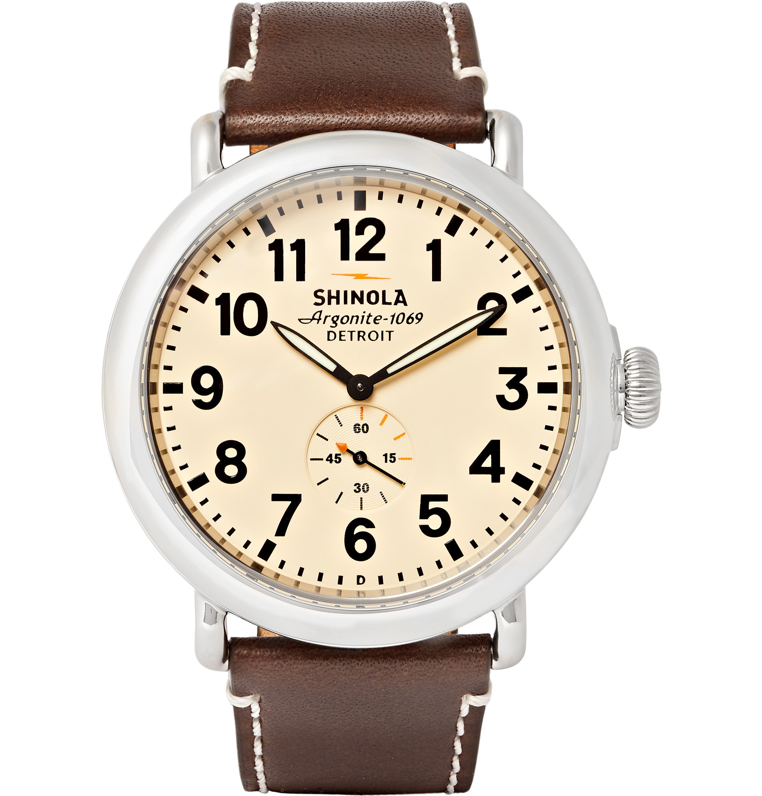 Lyst shinola the runwell mm stainless steel and