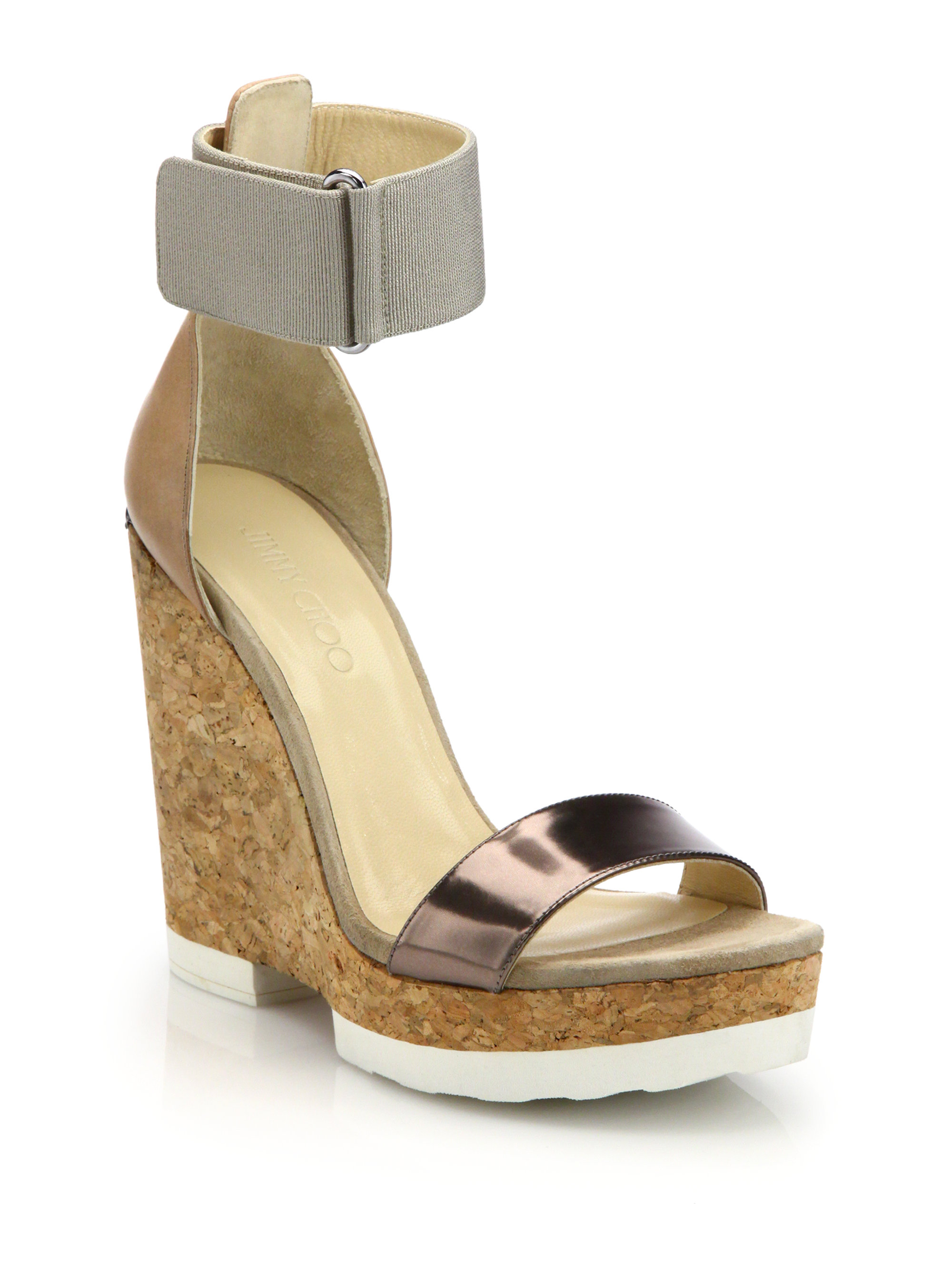 Jimmy Choo Metallic Canvas Sandals discount purchase discount supply pujq0By