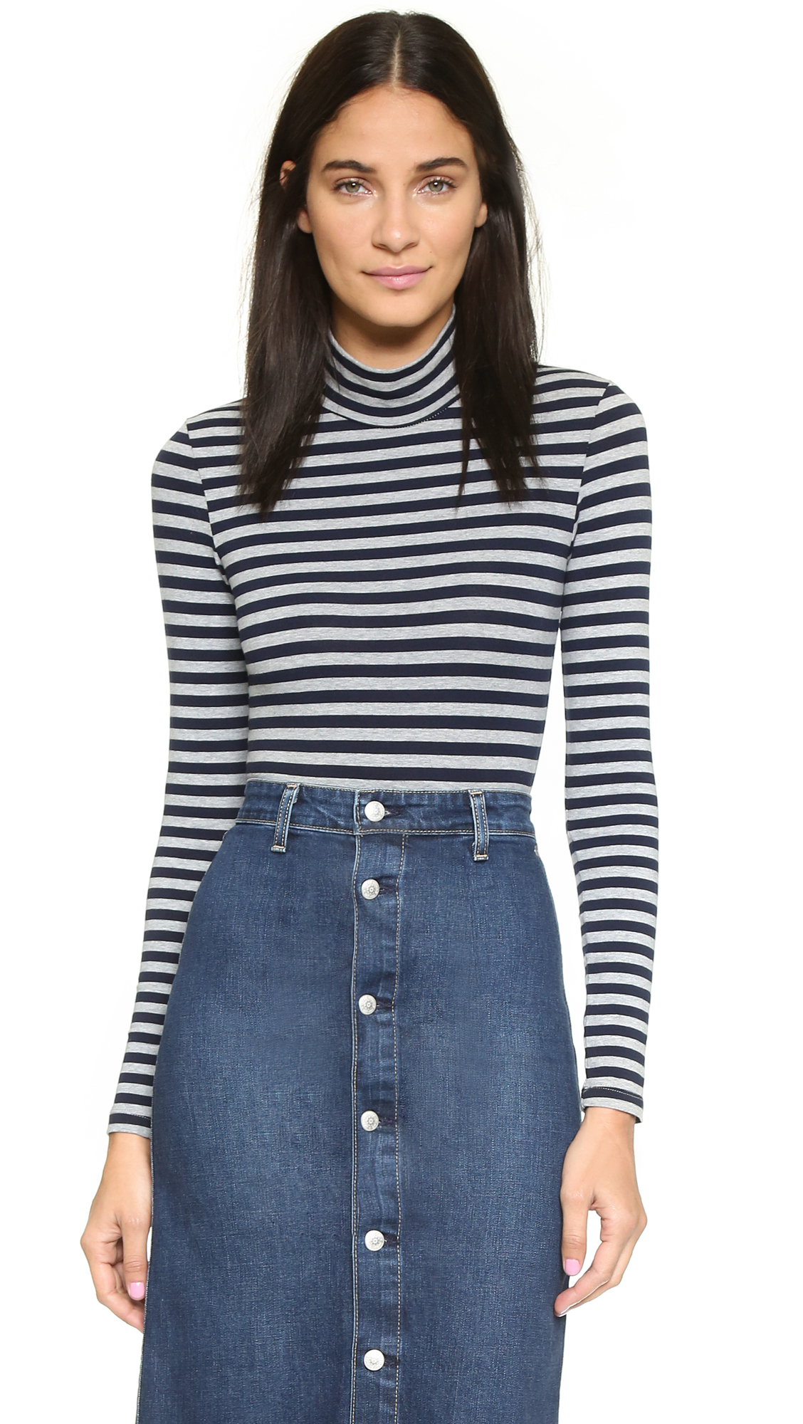 Capulet Long Sleeve Turtleneck Bodysuit - Navy/heather ...