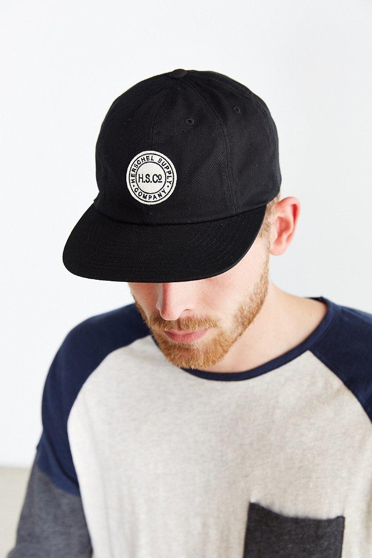 2474d9e6c59 ... albert baseball cap army green 43ee6 559e1 low price lyst herschel  supply co. glenwood strapback hat in black for men 91b3d 6baa7 ...