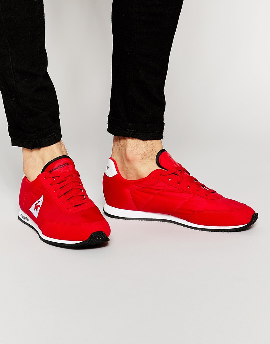 f2a450a05fb3 Lyst - Le Coq Sportif Racerone Trainers in Red for Men