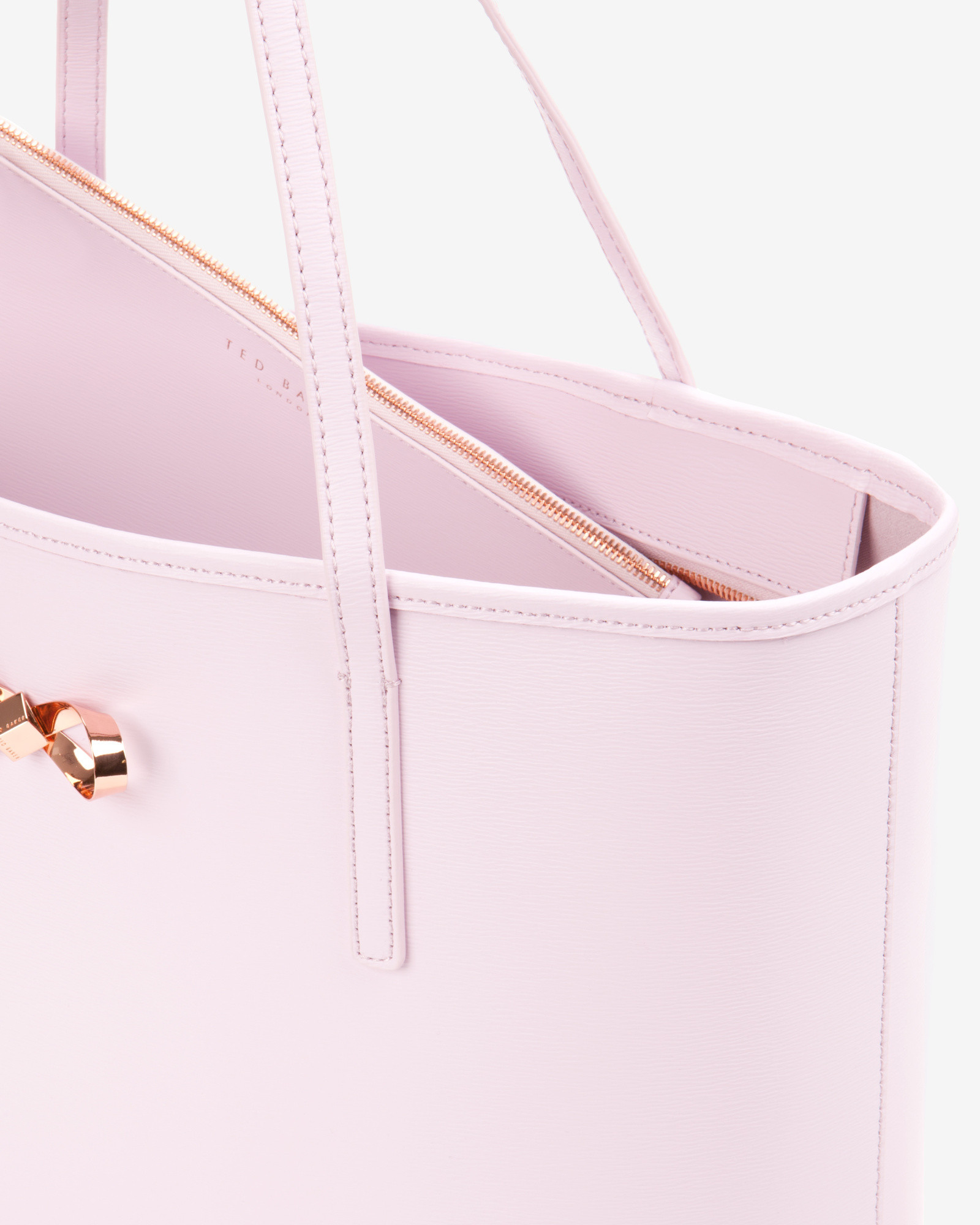 Ted Baker Bow Detail Leather Shopper Bag In Pink Lyst