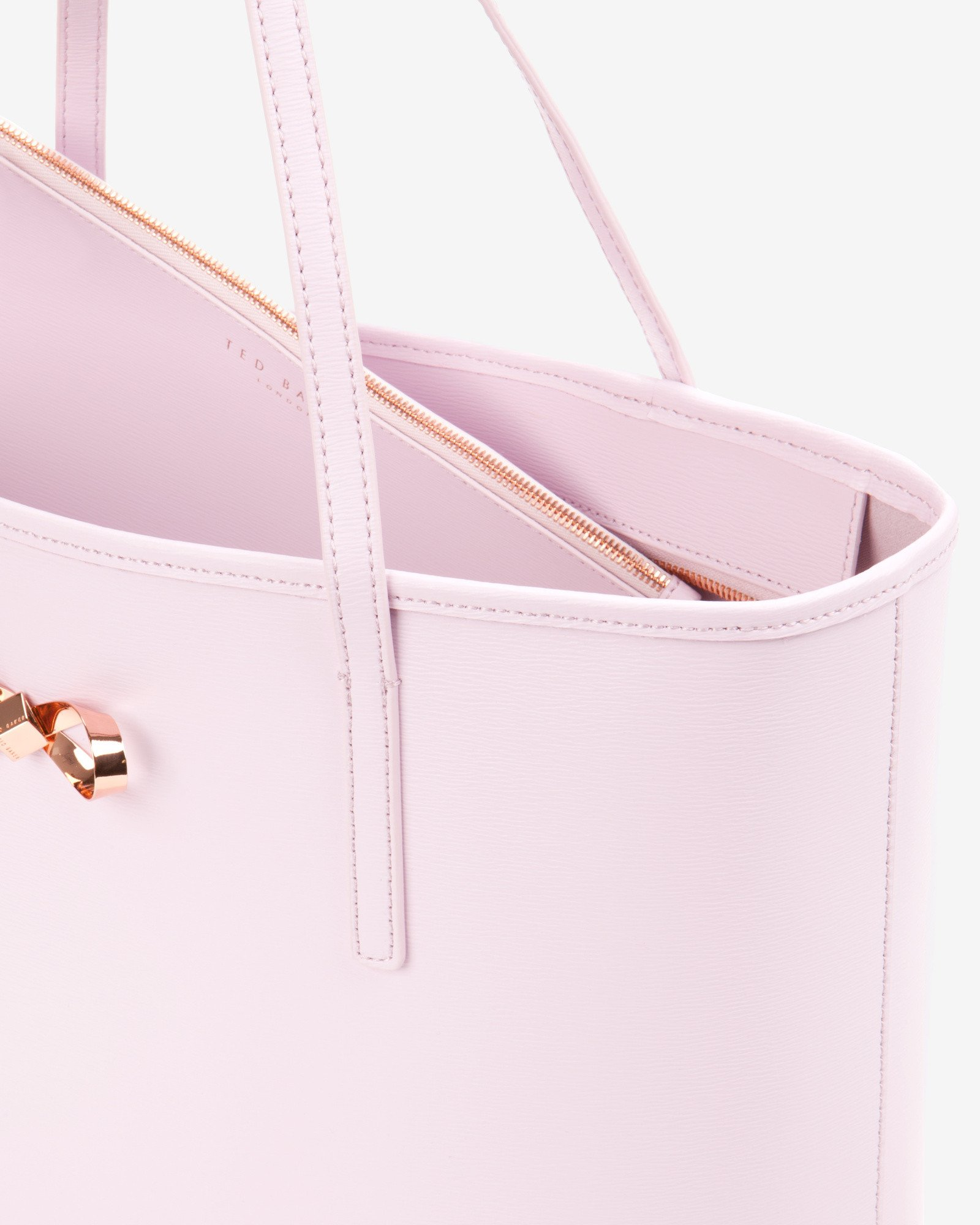 111d475912f5 Lyst - Ted Baker Bow Detail Leather Shopper Bag in Pink