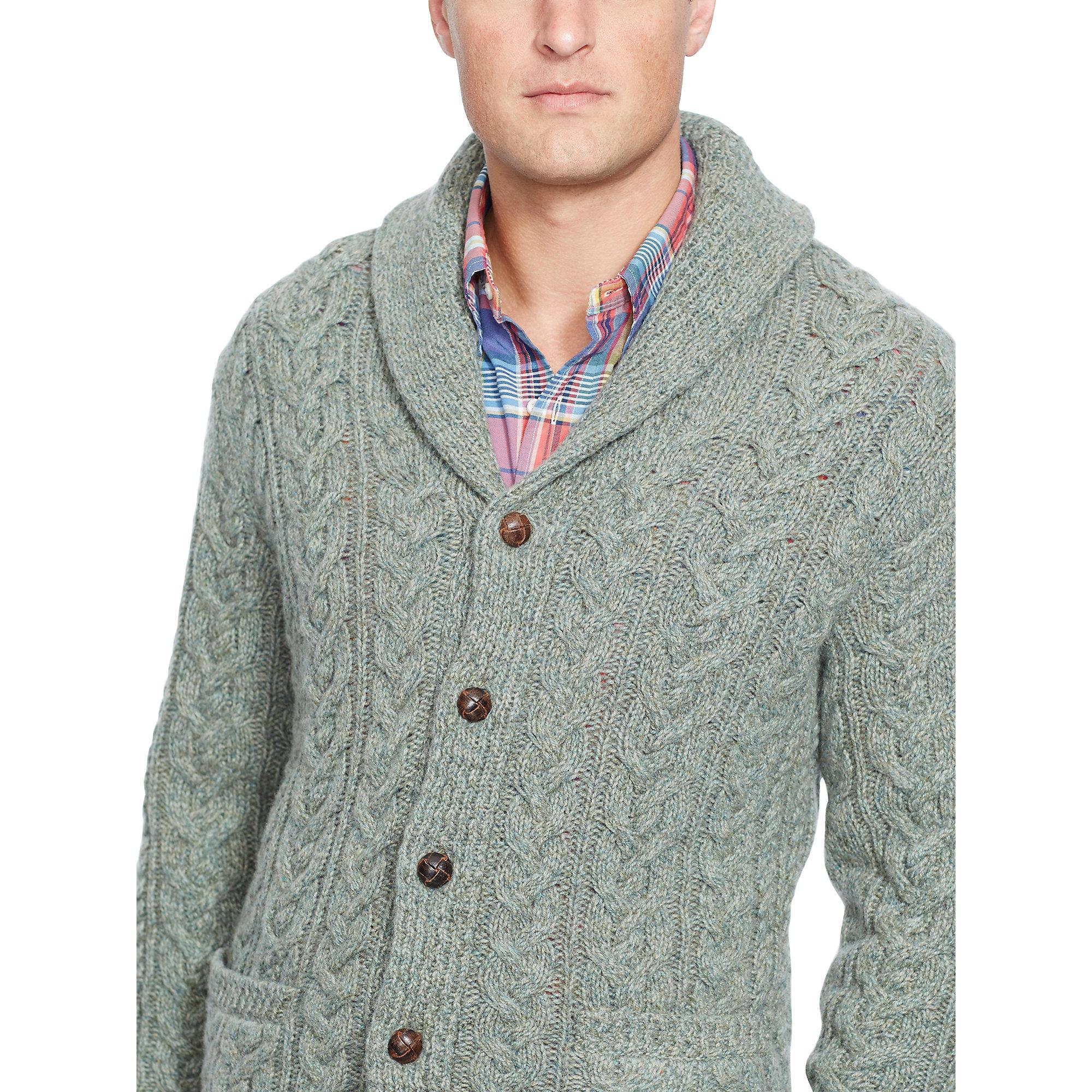 9d4c50724 Polo Ralph Lauren Wool-cashmere Cardigan in Green for Men - Lyst