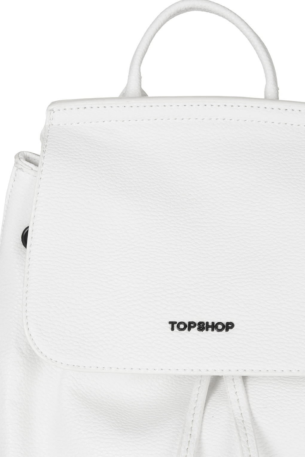 d795dc118a90 Lyst - TOPSHOP Mini Textured Backpack in White