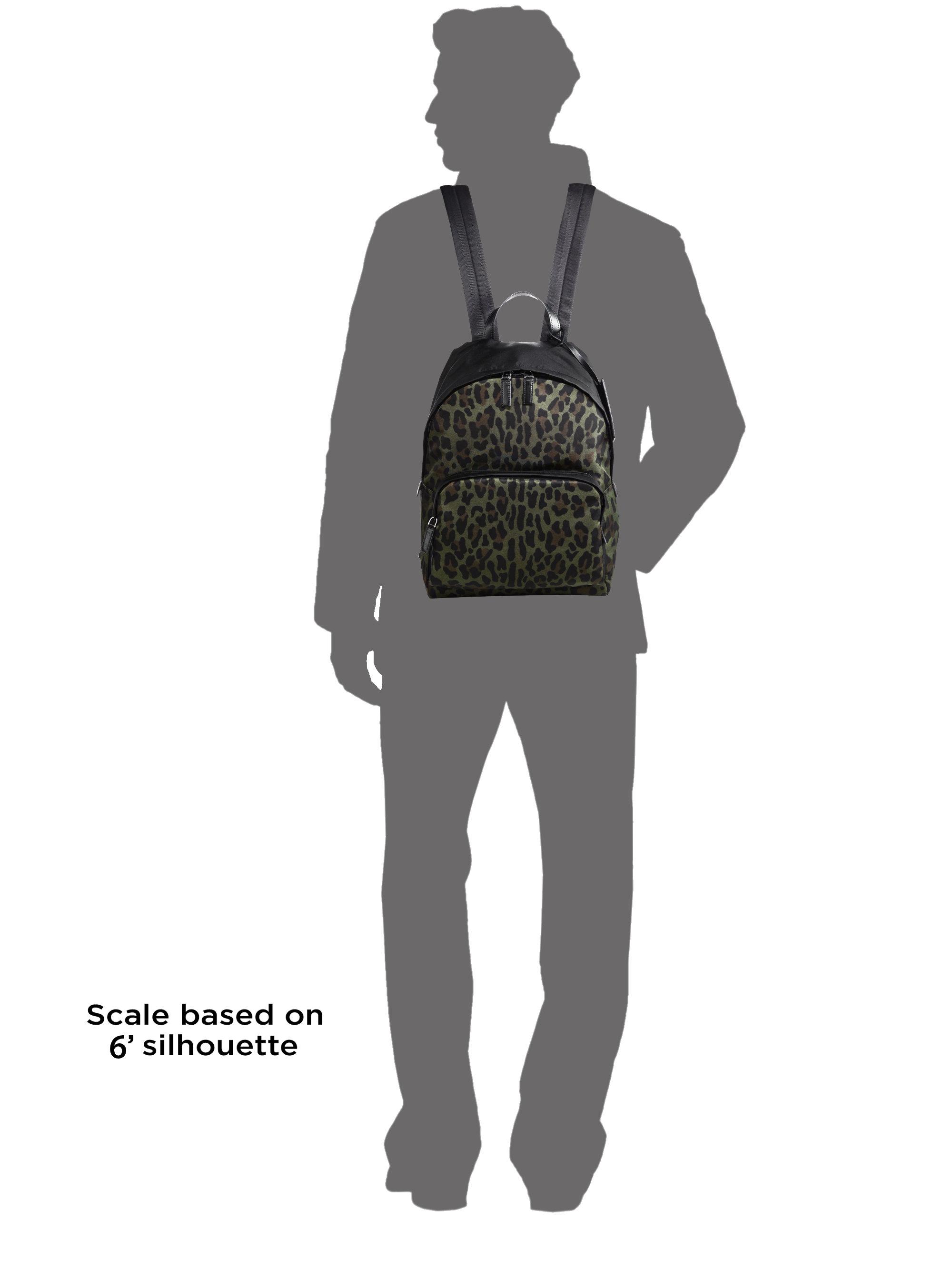 pradas bags - prada leopard print tessuto backpack, pink prada purse