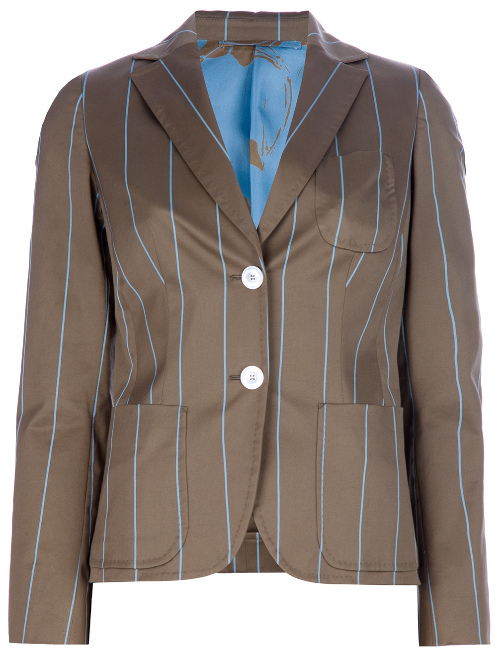 Lyst Kiton Pin Striped Blazer In Brown