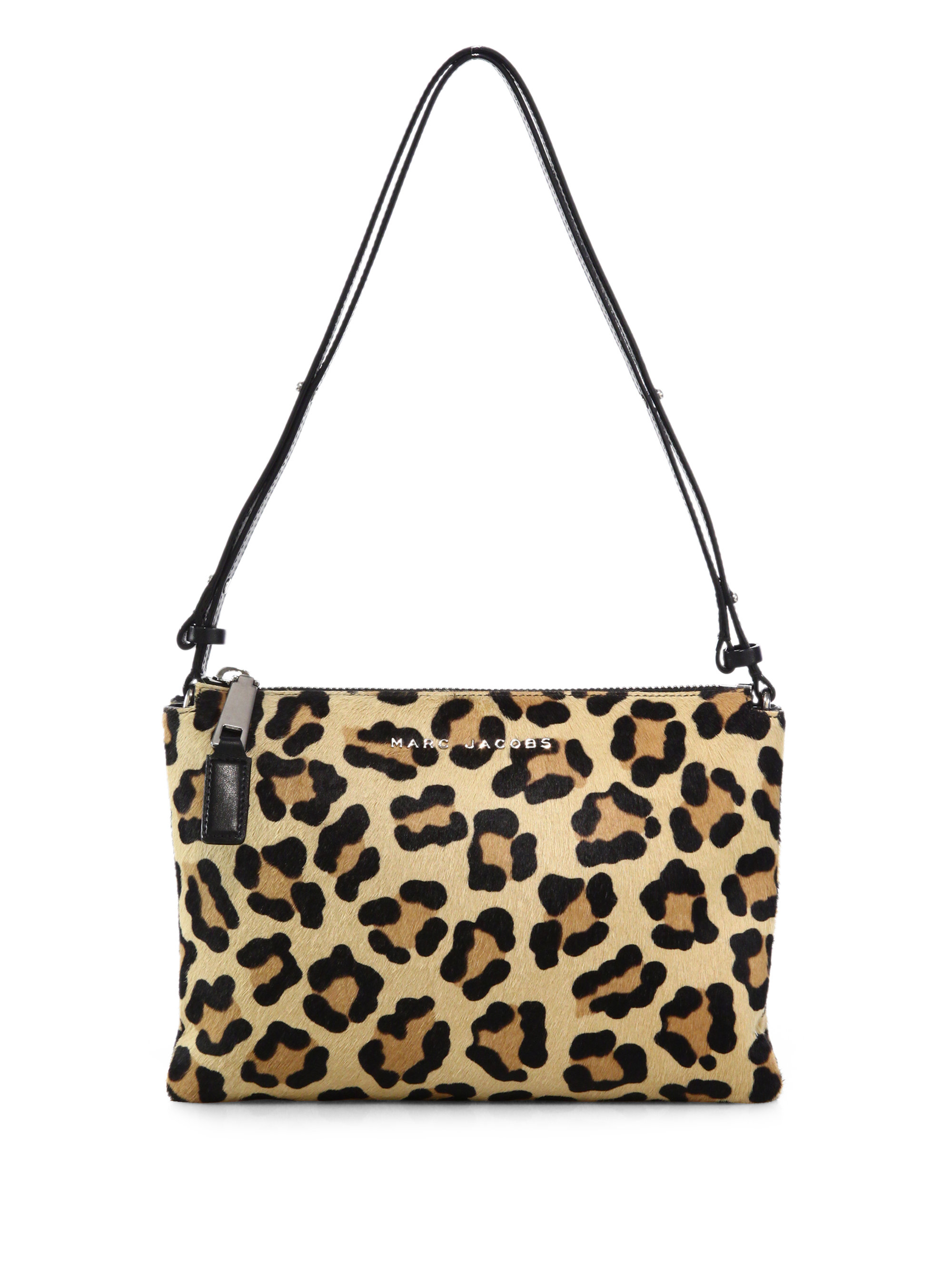 ad9785426d4 Wonderful Lyst - Marc Jacobs Double-pouch Leopard-print Calf Hair Crossbody  Bag SC63