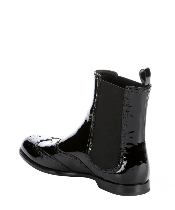 bottega veneta decorative patent leather chelsea boots in