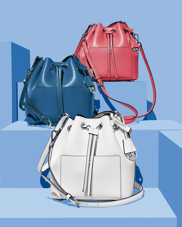 3957454cca1e MICHAEL Michael Kors Greenwich Medium Bucket Bag in Pink - Lyst