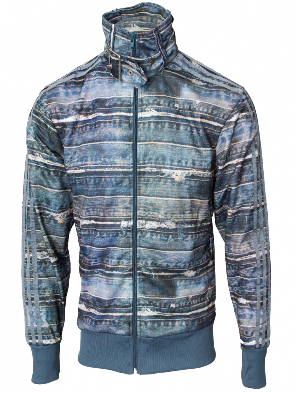 purchase cheap 604d8 53709 Jeremy Scott for adidas Denim Print Track Jacket Blue in Blue for ...