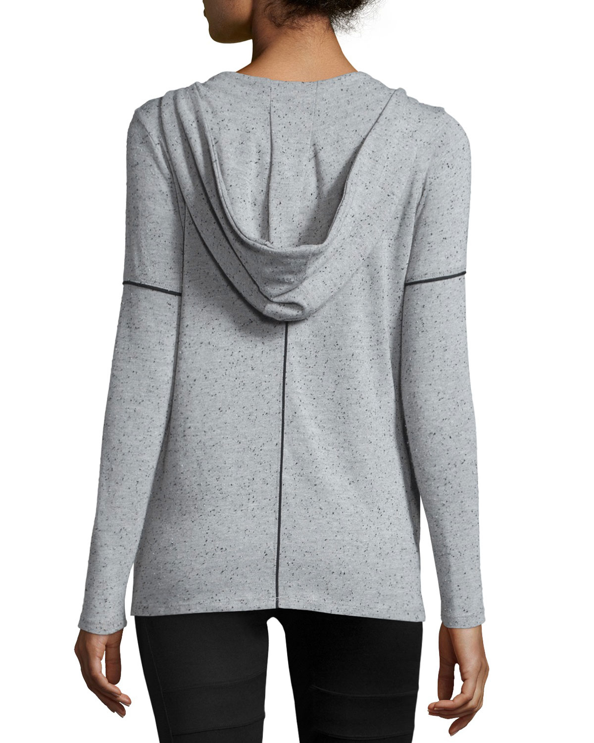 Koral activewear Flash Speckled-print Hooded Cardigan in Gray | Lyst