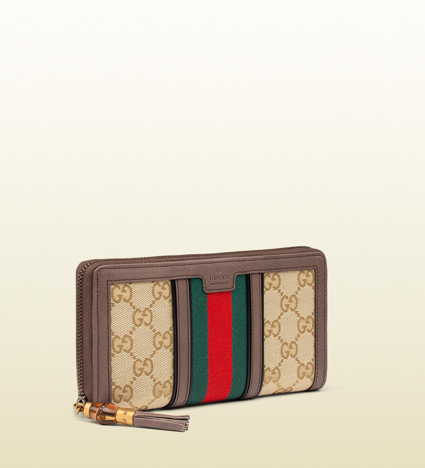 9658f8c01202 Gucci Rania Original Gg Canvas Zip Around Wallet in Red for Men - Lyst